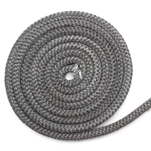 Kamindichtung 2m, ø 10x6mm Stegdichtung Flachdichtung Dichtband NICHT selbstklebend für Scheiben-Dichtung. Passend für verschiedene Oranier Kamin Modelle