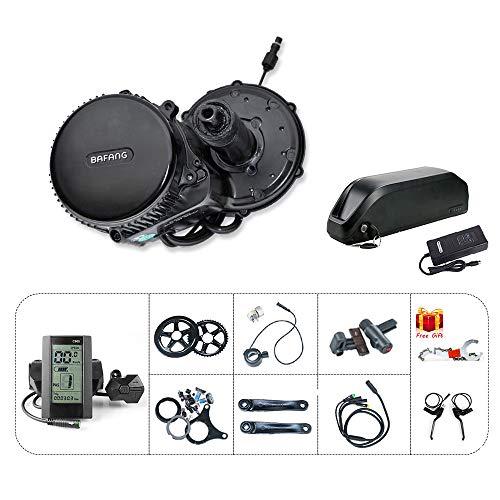 Bafang BBS02 48V750W Kit de Conversion pour Moteur de vélo électrique avec Batterie Li-ION 48V13Ah et Chargeur 2A 46T