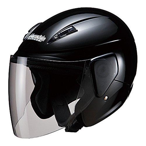マルシン(MARUSHIN) バイクヘルメット セミジェット M-520 ブラックメタリック フリーサイズ(57-60cm未満)