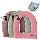 Zuzer Coprisedili per WC, 3pcs Toilette Copri Sedile Tappetino WC Universale Lavabile Toilet Seat Cushion Toilet Seat Cover
