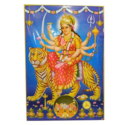 indischerbasar.de Poster XL divinità Turga su Tigre 146 x 96 cm Stampa su Carta Accessori Decorazione casa