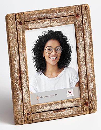 walther design Dupla Portraitrahmen 13x18 cm, weiß/natur