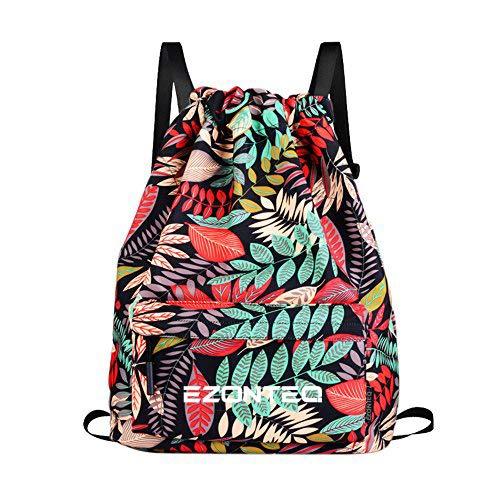 La mejor mochila de tela de mujer: Mochila Tela Hojas Rojas