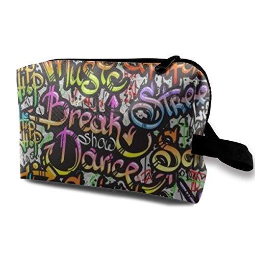 Bolsa de maquillaje para maquillaje con pintura en aerosol para graffiti de calle loca danza patt, multifuncional, bolsa de viaje bolsa de almacenamiento 🔥