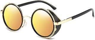 Dollger Steampunk Vintage Retro Round Sunglasses Metal Circle Frame