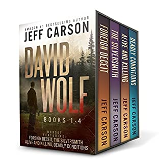 The David Wolf Mystery Thriller Series: Books 1-4                   By:                                                                                                                                 Jeff Carson                               Narrated by:                                                                                                                                 Sean Patrick Hopkins                      Length: 28 hrs and 16 mins     24 ratings     Overall 4.6