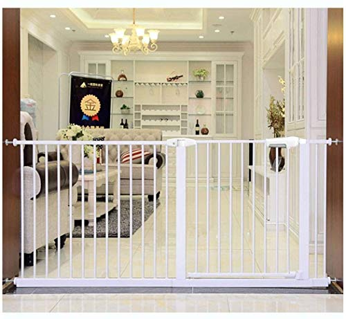 Jacquelyn Safety Gate Pressure Fit Safety Metal Gate Stands 78cm tall The width can be selected from 56 to 275cm Dog Gate Baby Gates with Extensions Available Ideal for Kids and Pets
