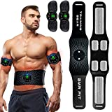 BLUE LOVE Abs Stimulator, Muscle Toner, Abs Stimulating Belt, Abdominal Toner- Training Device for Muscles- USB Rechargeable Wireless Portable Gym Device- Muscle Sculpting at Home- Fitness Equipment