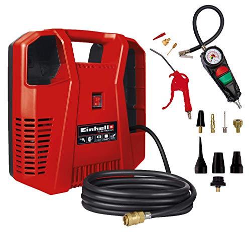 Einhell Kompressor TC-AC 190/8 Kit + Einhell Aufblas Adapter Set passend für Kompressoren (8-teilig)