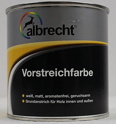 Albrecht Vorstreichfarbe Lack, Grundierung, Haftgrund, Holzgrund, Farbe weiß 375ml