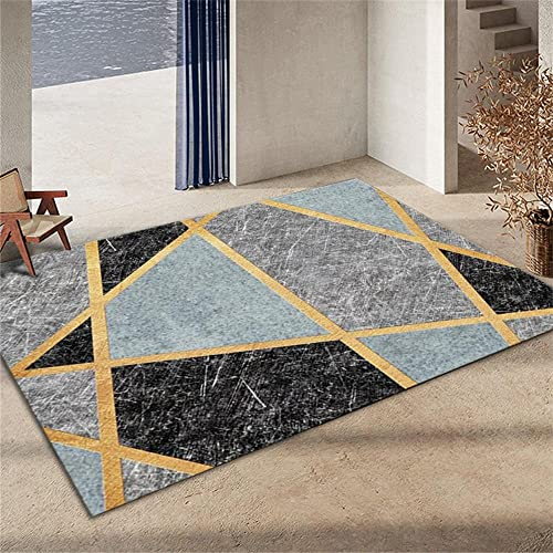 decoraciones para habitaciones Interiores La Alfombrers La alfombra geométrica gris es resistente a las manchas y la decoración antideslizante de la sala de estar del dormitorio. Alfombra Bebes 50X80C