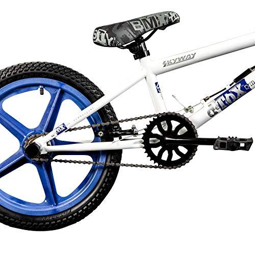 DETOX BMX 18 Zoll Rude Skyway Freestyle Bike Street Park Fahrrad viele Farben (weiß/blau) - 4