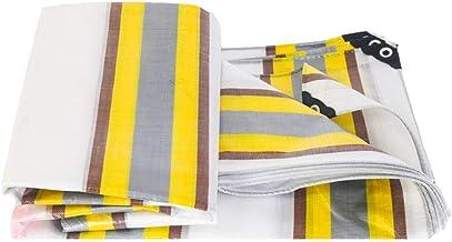 Tarpaulin Truck Tarpaulin Color Strip Waterproof Cloth Sunscreen Cover Rain Shade Tarps, UV-bestendig, Meerdere maten, 210...