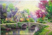 古典的な有名な絵の紙のパズル- 1000ピースジグソーパズル美しい風景画アート解凍おもちゃ大人のティーンDIY木製パズルのおもちゃ - 夏至(75×50センチメートル)