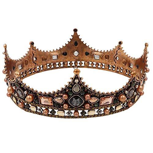 Lurrose Boda nupcial Headwear Rhinestone cabeza Prop brillante corona tocado para novia