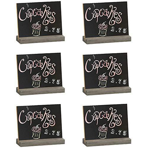 Kreidetafel Mini Schilder Kleine Holz Tafel Memotafel Preisschild Platzkarten Kleine Holztafel Tafel Klein Nachricht Board mit Ständer als Tischkarte für Party Restaurant Hochzeit Bar Zuhause 6 Stück