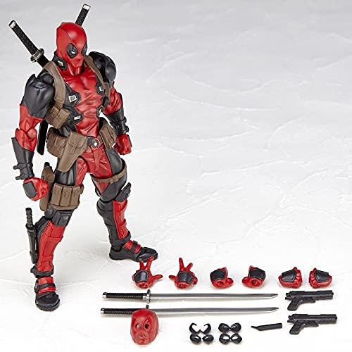 Marvel X-Men Deadpool Statue Model Figure Mobile Super Heroes Action PVC Figure Dead Pool con Armi Bambini Giocattoli Regalo FAI Da Te