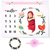 CAVN Baby Monthly Milestone Blanket Photography Props Backdrop for...
