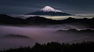 JkykppPintura digital por números Dibujo Imágenes para colorear Nubes Vista nocturna del Monte Fuji Dar a los niños Grandes regalos educativos de bricolaje Decoración del hogar sin marco 40X50 cm