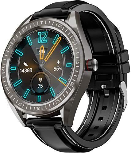 COULAX SmartWatch, 1.3 Zoll Touch Farbdisplay Fitness Armbanduhr mit Pulsuhr, IP68 wasserdichte Sportuhr mit Schrittzähler Schlafmonitor SMS SNS Erinnerung, Stoppuhr für Damen Herren