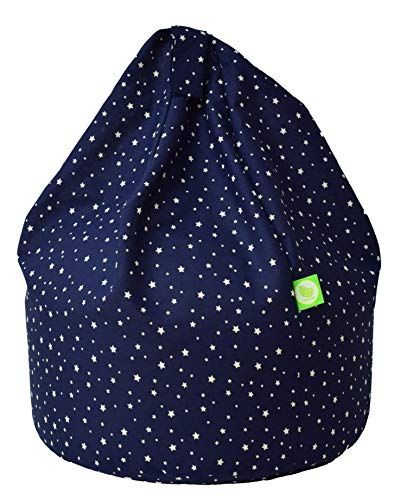 Bean Lazy Cotton Navy Stars Bean Bag With Beans Child Size