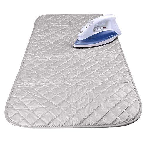 qees Espesan Alfombrilla de Planchar Planchado Manta con Revestimiento de Plata Seguro Durable Lavadora Resistente al Calor Pad, Uso en la Parte Superior