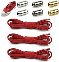 結ばない靴ひも,靴の着脱を簡単に レースロック 伸縮する ワンタッチゴム靴紐 カラーメタルカプセルバックル,お子様、大人、ご高齢者、アスリート、靴紐を結ぶのが苦手な方