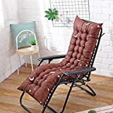 Ssskl 48x170cm sillón reclinable cojín de Respaldo Suave cojín Mecedora cojín de Banco reclinable cojín de Silla de jardín-5_48x125cm 1 Pieza