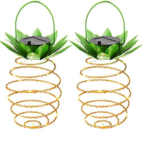 Haavpoois 2 stuks zonnelichtjes romantisch anananas in de vorm van een kroonluchters LED sprookjes buiten gazon tuin decoratie verlichting energiebesparing en milieubescherming