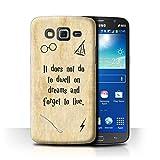 Hülle Für Samsung Galaxy Grand 2/G7102 Schule der Magie Film Zitate Dwell On Dreams Design Transparent Ultra Dünn Klar Hart Schutz Handyhülle Hülle