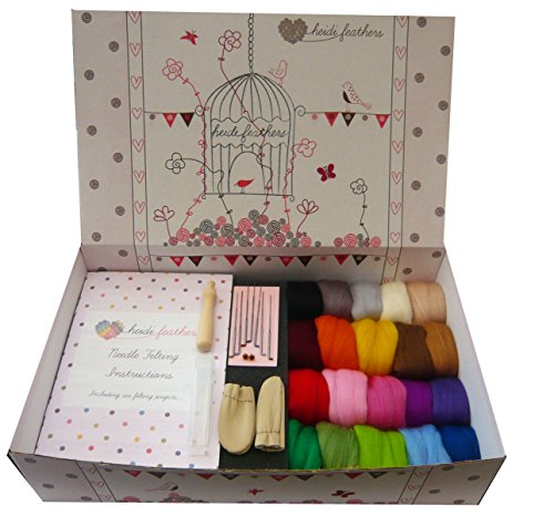 Felting kit great traditional wool 7th anniversary gifts for craft spouses