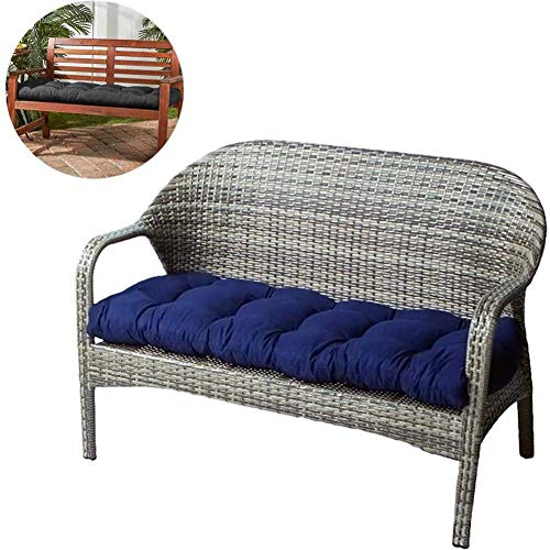 JY&WIN Indoor Outdoor Two Seater Seat Cushion, Soft Patio Bench Cushion, Thickened Memory Foam Armchair Cushion for Wicker Sofa