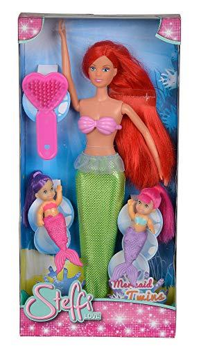 Simba 105734162 - Steffi Love Puppe als Meerjungfrau mit zwei Baby Meerjungfrauen, sortiert