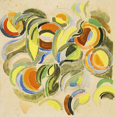 Sonia Delaunay Giclee Auf Leinwand drucken-Berühmte Gemälde Kunst Poster-Reproduktion Wand Dekoration(Dekorationsprojekt für den Pavillon oder die internationale Ausstellung von Paris) #XFB