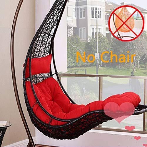 Hanging Egg hangstoel kussen, dikke wieg schommelstoel kussen rieten comfortabele Chaise Lounge kussen voor buiten binnen stoel pad