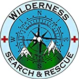 Sticker Badge Wilderness Search and Rescue Decal for Car Truck Window USA Stickers (4 inch, Reflective)