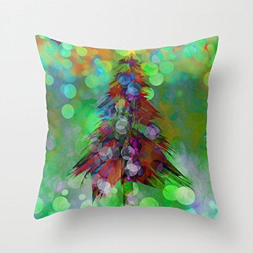 Astratto Albero di Natale Natale Federe Cuscino Coperta decorativa Custodia di cuscino 18X 18pollici