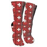 Jesse Tobias Suiza Flag Puzzle Crazy Socks 3D Crew Socks SOCKS-246