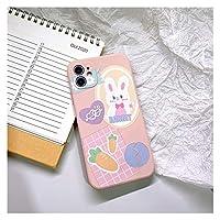 THUCHENYUC レトロスウィートバニーキャロット日本の電話ケースiPhone12 11 Pro Max XR XS MAX X 7 8 Plus 12 Mini7Plusケースかわいいカバー (Color : 02, Size : For iphone XS)