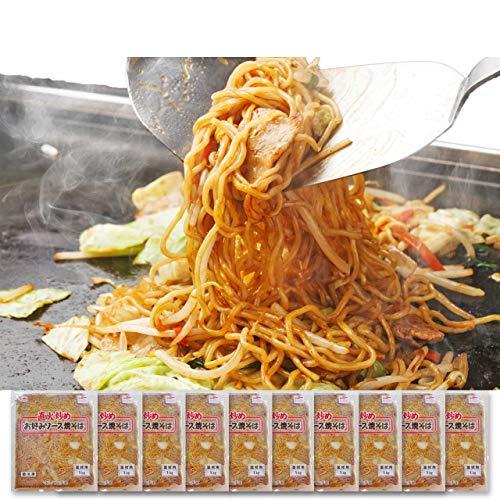 イカ屋荘三郎 業務用 こってりソース焼きそば1kg×10袋 お取り寄せ グルメ ヤマキ食品