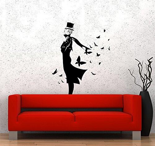 wandaufkleber f Vinyl Peel und Stick Wandbild Removable Wall Sticker Decals Mode Kleidung Glamour...