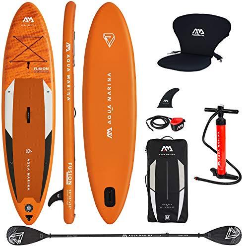 Aqua Marina Aufblasbar Sup Board Stand up Paddle AQUAMARINA Fusion Komplette Packung 330x81x15cm mit...