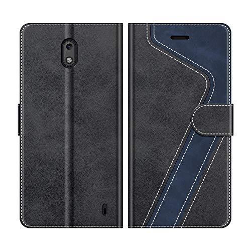 MOBESV Handyhülle für Nokia 2 Hülle Leder, Nokia 2 Klapphülle Handytasche Hülle für Nokia 2 Handy Hüllen, Modisch Schwarz