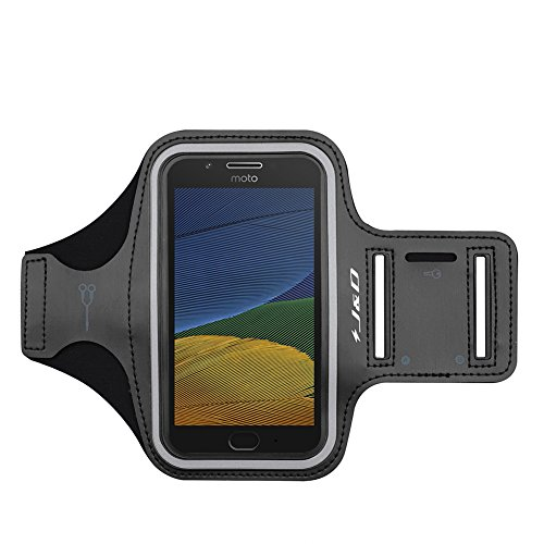 J&D Kompatibel für Moto G4/G4 Plus/G5 Plus/Moto G6/G7 Play/Moto E5/E5 Play/Moto Droid Turbo 2/Moto Z/Z Play Droid/Z Force Armband, Running Sportarmband mit Schlüsselhalter Slot, Kopfhörer-Verbindung