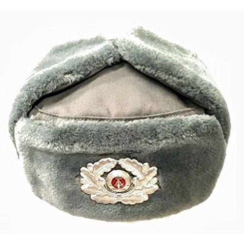 NVA Wintermütze Gr. 60 Offizier Original BäFo Mütze DDR Winter