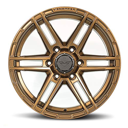 VENOMREX VR-602 17 Inch Flow Forged Wheel Compatible with 02-20 Toyota Tacoma/4Runner and 07+ Chevy Silverado 1500 6x139.7 Bolt Pattern, 17x9 (-12mm Offset), 106mm Bore, Highland Bronze - 1 PC