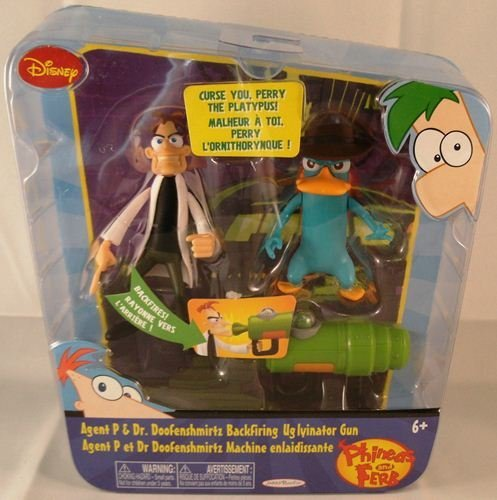 Phineas And Ferb Figure Pack Assortment 3 Dr. Doof And Agent P (With Backfiring Gun)