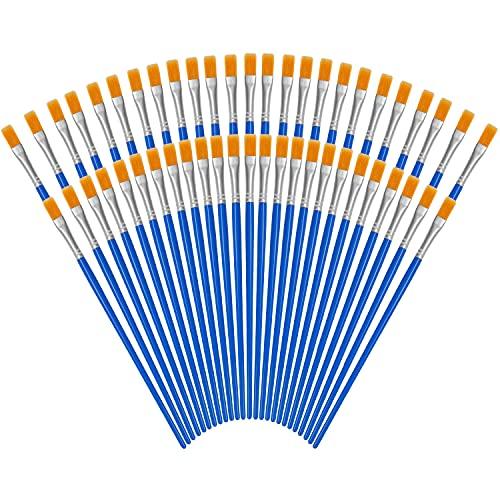 Kurtzy Pinceaux Peinture Bleus (Lot de 50) -...