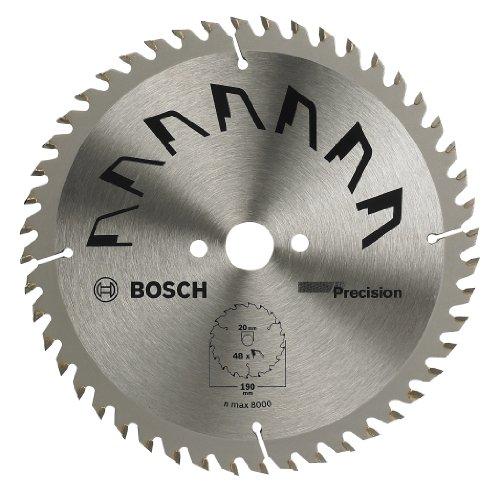 Bosch 2609256937 - Lama di precisione per sega circolare, 48 denti, carburo, taglio netto, diametro 315 mm alesaggio 30, larghezza di taglio 3,2 mm