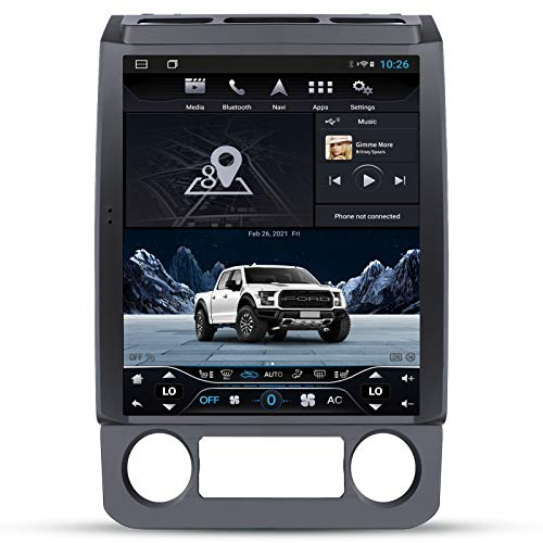YULU Car Radio Stereo Android 10.0 T-Style Head Unit Replacement for F150 2015 to 2019,F250/F350 2017 to 2019 Car Navigation 4GB+64GB Player with Carplay/DSP/BT/4G 12.1 Inch IPS Touch Screen